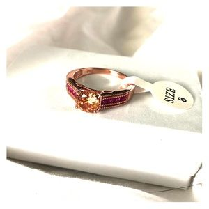 Jewelry - NWT Rose gold, pink and yellow ring S8
